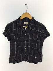 半袖シャツ/2/リネン/NVY/チェック