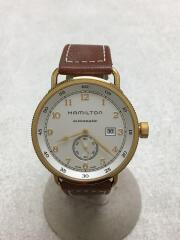 自動巻腕時計/カーキネイビー/パイオニア/アナログ/レザー/WHT/BRW/H784550