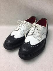 burton/バートン/ドレスシューズ/UK7/BLK/レザー/コンビ/ウイングチップ/短靴