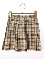 プリーツスカート/130cm/ウール/BEG/チェック/bx307-407