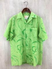 イオラニ/アロハシャツ/半袖シャツ/M/コットン/GRN/ライトグリーン/黄緑