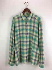 パタゴニア/長袖シャツ/XL/コットン/GRN/チェック/steersman-shirt
