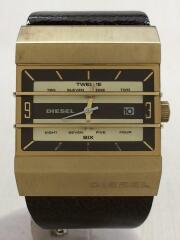 ディーゼル/クォーツ腕時計/アナログ/フェイクレザー/WHT/DZ-5124