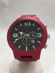 アルマーニエクスチェンジ/AX1155/クォーツ腕時計/アナログ/ステンレス/BLK/RED