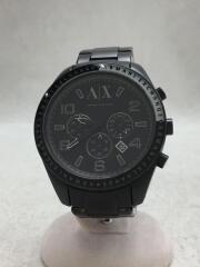 アルマーニエクスチェンジ/AX1255/クォーツ腕時計/アナログ/ステンレス/BLK/BLK