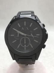 アルマーニエクスチェンジ/AX2601/クォーツ腕時計/アナログ/ステンレス/BLK/クロノグラフ