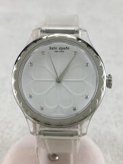ケイトスペードニューヨーク/KSW1603/腕時計/アナログ/ラバー/WHT/CLR