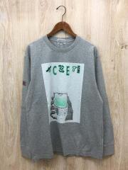 シーイー/長袖Tシャツ/XL/コットン/GRY