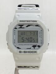 ×FACETASM/クォーツ腕時計/デジタル/WHT/DW-5600VT