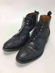 ×green label relaxing/レースアップブーツ/40/BLK/レザー/98521/ソール減り