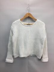 セーター(厚手)/XS/コットン/WHT/1577-343-9019