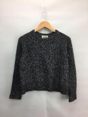 ×UA/セーター(厚手)/S/ウール/BLK/1662-343-0754/襟汚れ