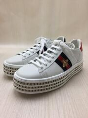 Ace/Crystal Sneakers/クリスタル付スニーカー/36.5/WHT/◆グッチ