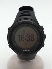 AMBIT2/腕時計/アナログ/ラバー/GRY/BLK