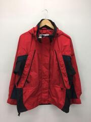 Fire Ridge/ナイロンジャケット/M/ナイロン/RED/汚れ有