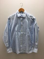 長袖シャツ/2/コットン/BLU/襟・袖使用感有/06191