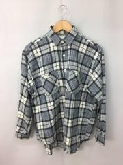 ツイルチェックワークシャツ/S/コットン/GRY/チェック/11-11-1098-086/汚れ有