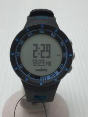 Quest/クォーツ腕時計/デジタル/ラバー/SLV/BLK
