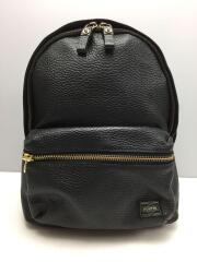 5525gallery/BACKPACK LARGE/リュック/レザー/BLK