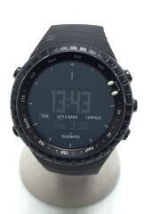 CORE/クォーツ腕時計/デジタル/ラバー/BLK/BLK/ベゼルキズ有