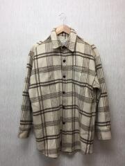 19AW/シャギーチェックルーズシャツ/FREE/ポリエステル/IVO/111950406201