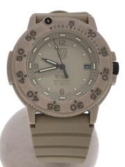 17AW/NAVY SEALS 3000 WATCH/腕時計/アナログ/ラバー/ブラウン/クォーツ/3000 Series/×WTAPS ダブルタップス