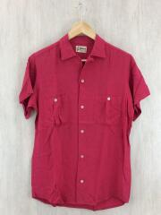 ボーリングシャツ/S/レーヨン/RED/60s