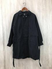 LOCAL BLACK GATHERED COAT/ギャザーコート/ステンカラーコート/S/コットン/ブラック