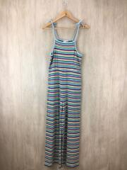 19SS/STRIPED CAMI ALL IN ONE/2/コットン/マルチカラー/ボーダー