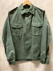 70s/Belgium Army/ベルギー軍/ミリタリーシャツ/38/コットン/KHK/ステッチ抜け有