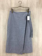 スカート/34/ポリエステル/グレー