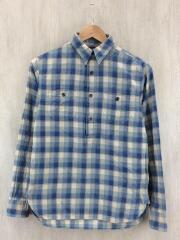 FLANNEL PULLOVER SHIRTS/プルオーバーシャツ/長袖シャツ/XS/コットン/BLU/チェック