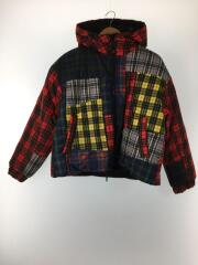 19AW/PATCHWORK PUFFER JACKET/2/ナイロン/BLK/無地