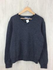 セーター(厚手)/XL/ウール/GRY