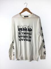 MADSTORE//長袖Tシャツ/L/コットン/WHT