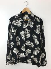 アロハシャツ/XL/レーヨン/BLK
