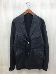 20SS/テーラードジャケット/L/羊革/BLK/SL-J08-900