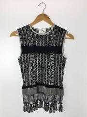 20ss/Knit Tops/1/コットン/ブラック