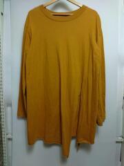 16AW/slit sleeve/長袖Tシャツ/2/コットン/イエロー