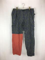 Cargo Zip Off Pant/XL/コットン/NVY/総柄