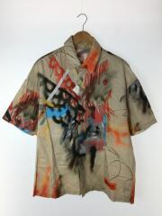 Robert Nava Scribble Print Shirt/半袖シャツ/M/コットン/マルチカラー/総柄