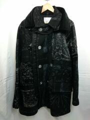 Dr. Woo Bandana Print Coat/コート/3/ウール/ブラック/総柄