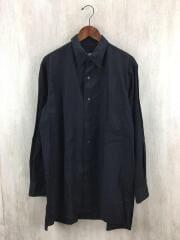 20SS/スタッフシャツB/汚れ有長袖シャツ/2/コットン/BLK/HN-B26-015