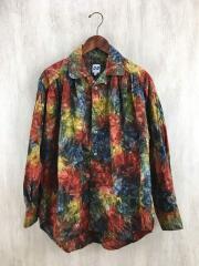 20SS/Painter Shirt - Abstract Batik/S/コットン/パープルグリーン/総柄
