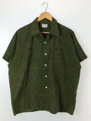 ROSS SUTERLAND/60-70s/オープンカラーシャツ/L/コットン/グリーン/総柄