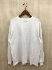 19AW/LUSTER PLAITING L/S TEE/3/コットン/ホワイト