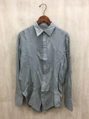 20AW/Wing Semi-Long Darts Shirt/M/コットン/グレー