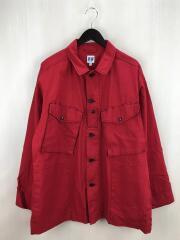 20AW/Prs Shirt-Cotton Ripstop/レッド/コットン/M