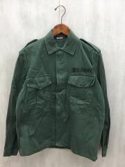 GEVACO/80s/ミリタリーシャツ/長袖シャツ/38/コットン/カーキ