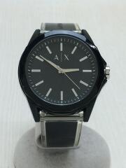 クォーツ腕時計/アナログ/ラバー/ブラック/黒/AX2629/箱
